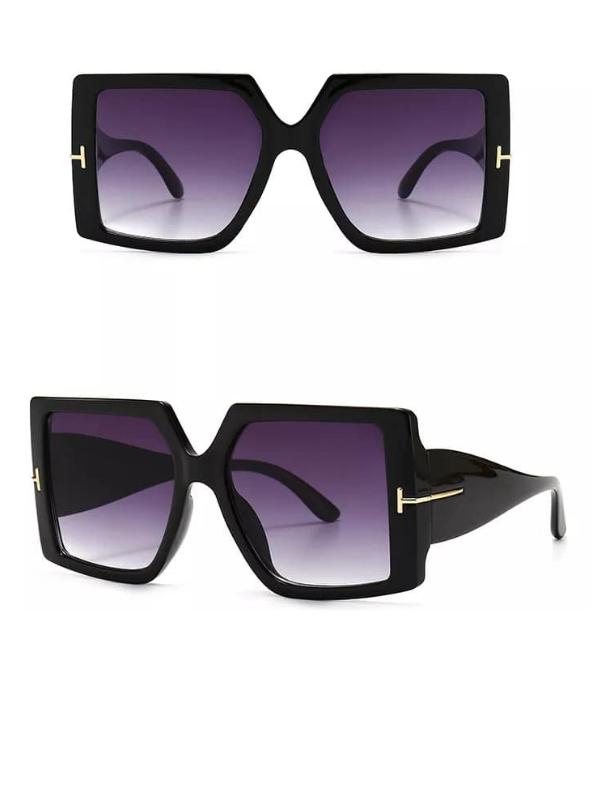 Gemini - Black Oversized Square Sunglasses