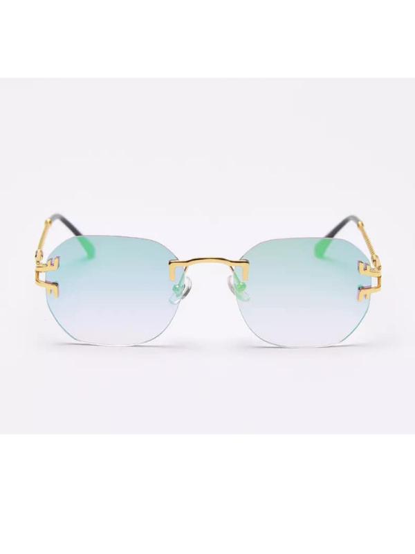 Hawaii - Green/Blue Ombre Rimless Sunglasses