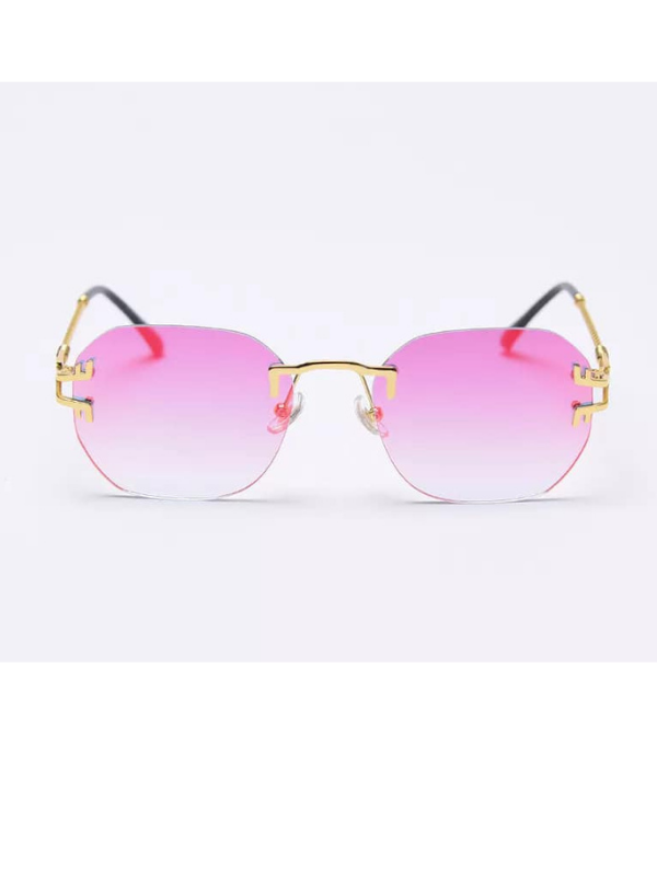 Hawaii - Pink Ombre Rimless Sunglasses