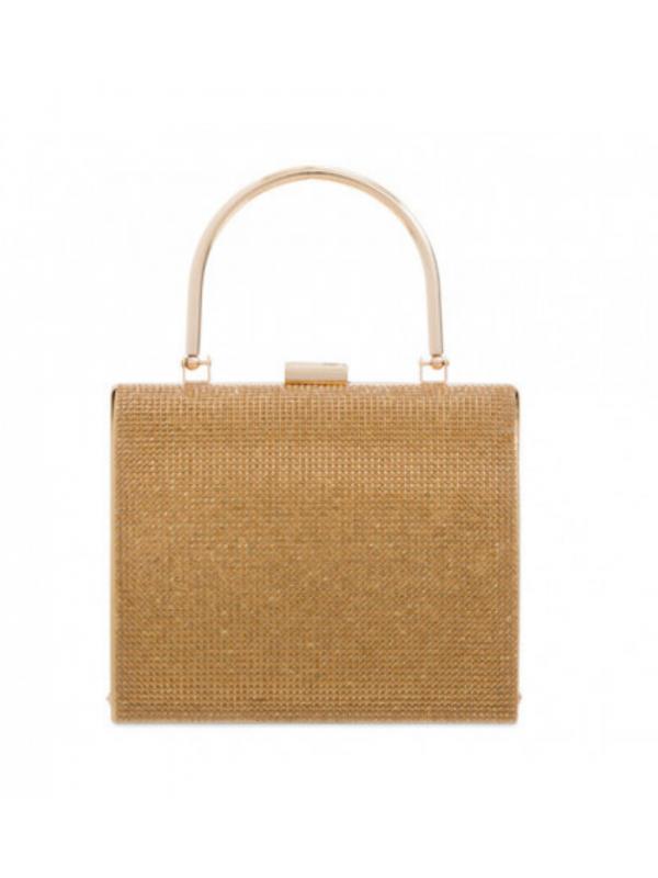 Gold Diamante Square Bag