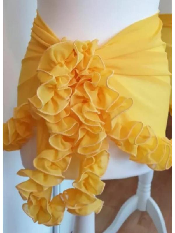 Yellow Ruffle Frill Sarong