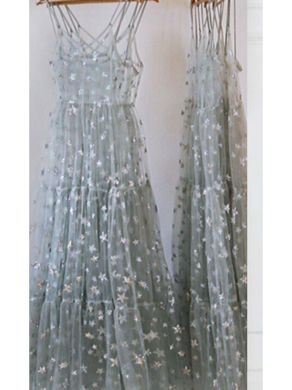 Silver Sparkle Sun Dress/Cover Up