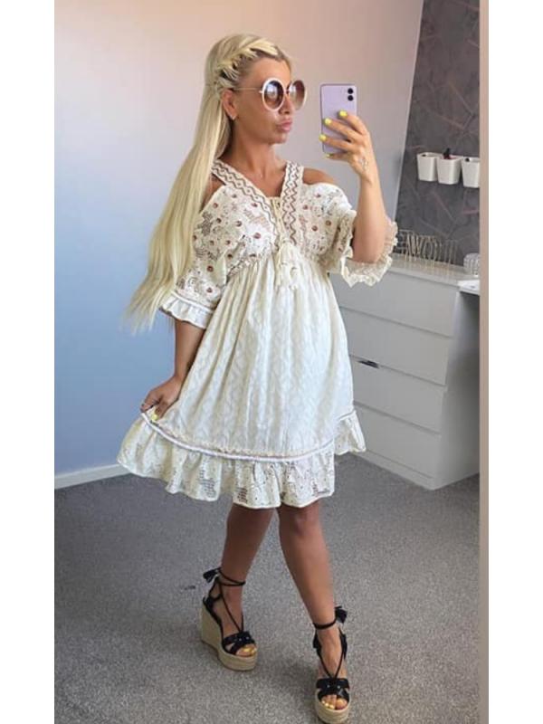 Casa Cream Lace Dress - Lux Boho Range