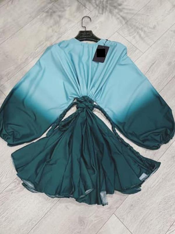 Forever Green Swing Mini Dress