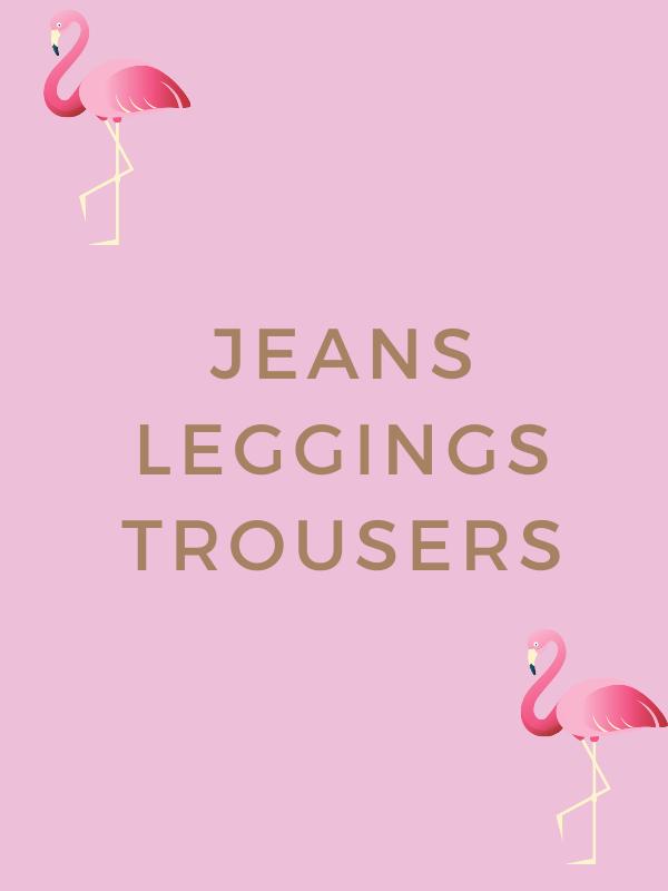 JEANS, TROUSERS, LEGGINGS,  (11)