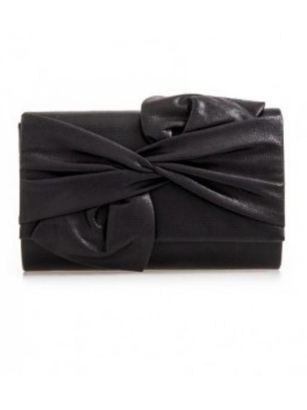 Black Medium Bow Clutch