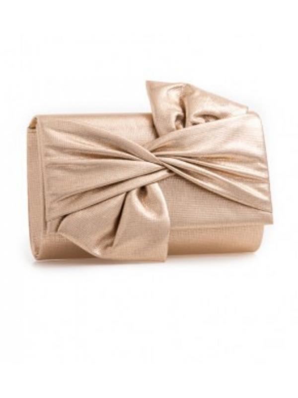Gold Medium Bow Clutch