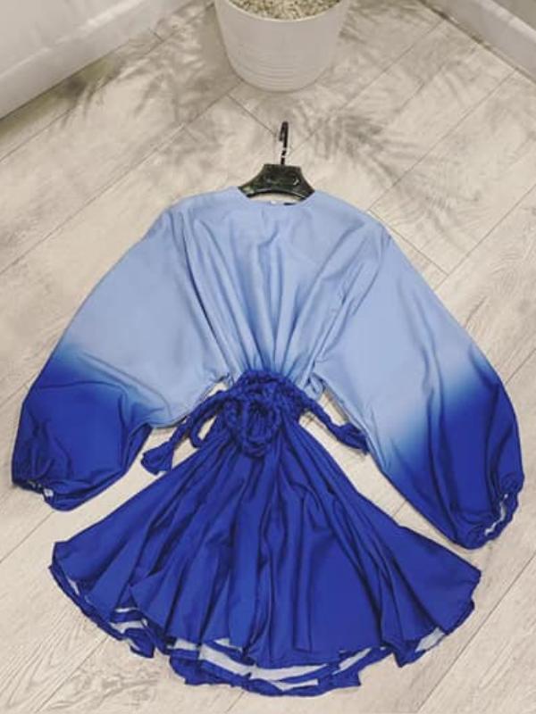 Forever Blue Swing Mini Dress