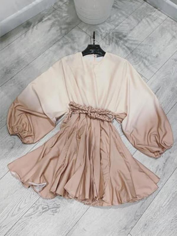 Forever Cream Swing Mini Dress