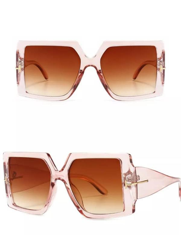 Gemini - Soft Mocha Oversized Square Sunglasses