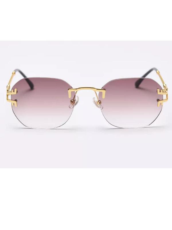 Hawaii - Grey Ombre Rimless Sunglasses