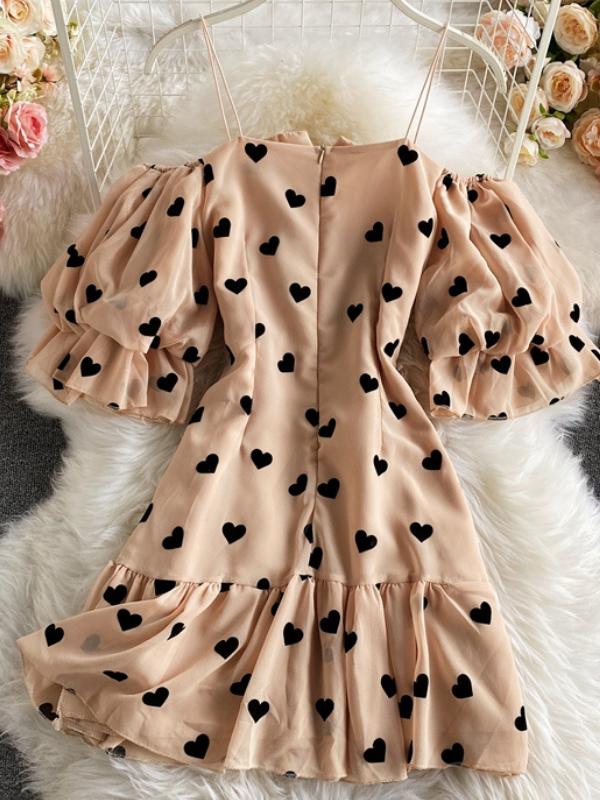 Heartless - Beige Ruched Mini Dress