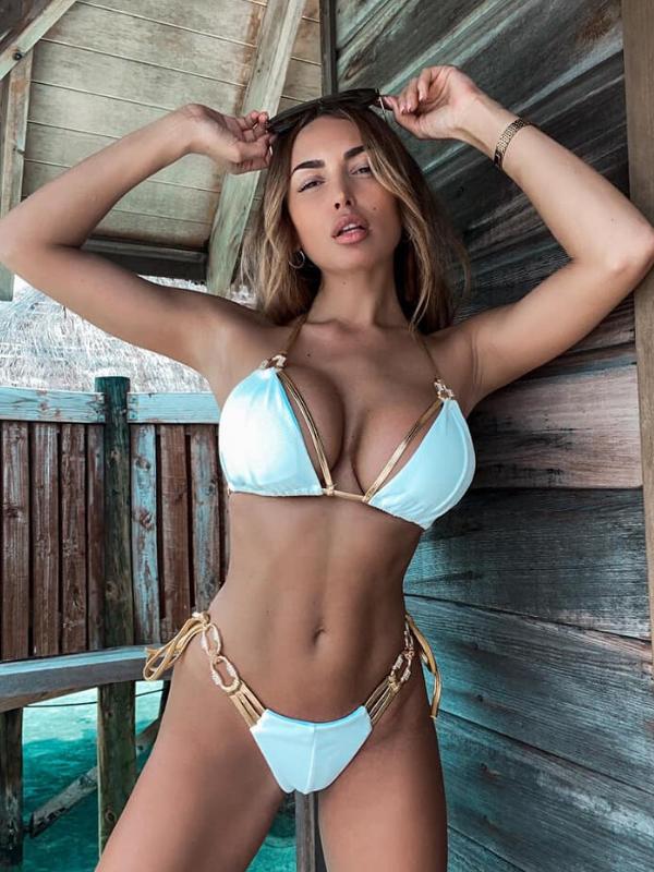 White & Gold Luxury Bikini